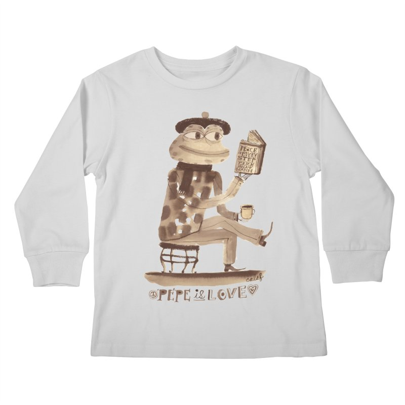 Calef Brown  Kids Longsleeve T-Shirt by savepepe's Artist Shop