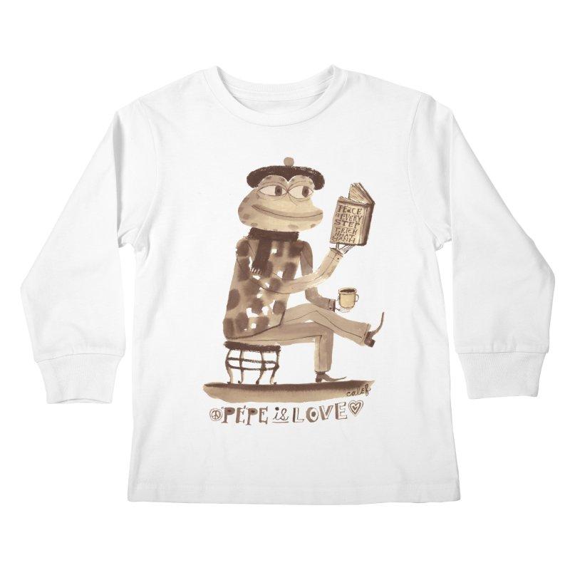 Calef Brown  Kids Longsleeve T-Shirt by savepepe's Artist Shop