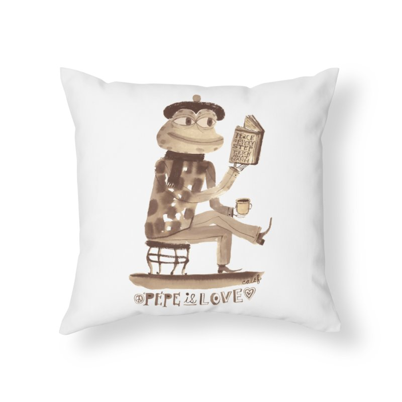 Calef Brown  Home Throw Pillow by Save Pepe