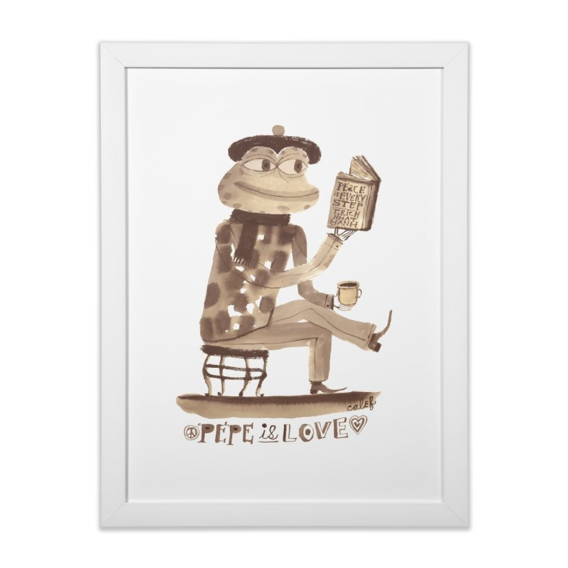 Calef Brown  Home Framed Fine Art Print by Save Pepe