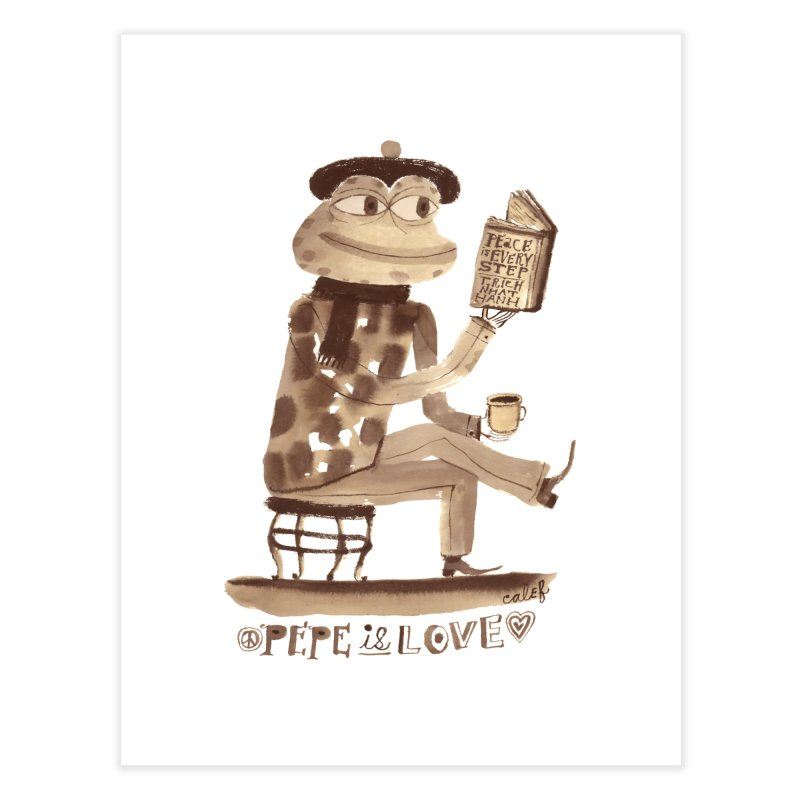 Calef Brown  Home Fine Art Print by Save Pepe