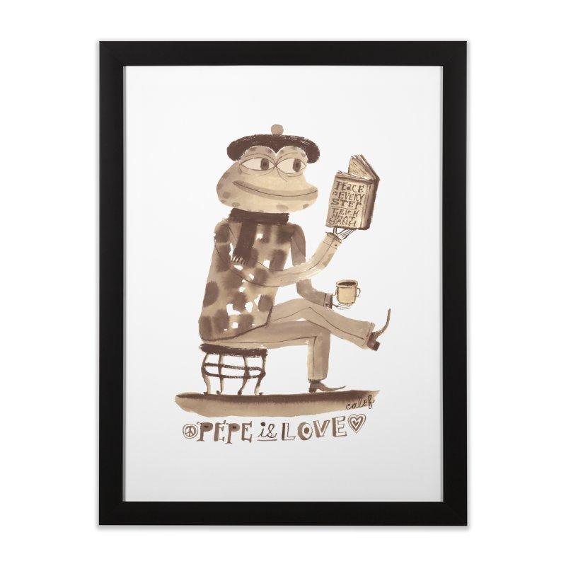 Calef Brown  Home Framed Fine Art Print by Save Pepe