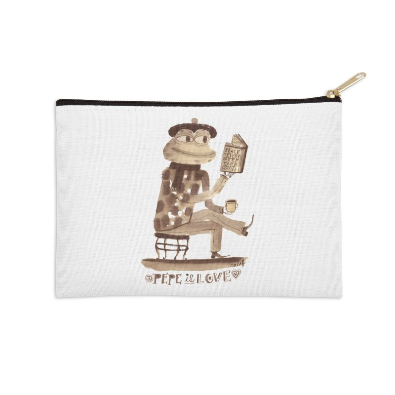 Calef Brown  Accessories Zip Pouch by Save Pepe