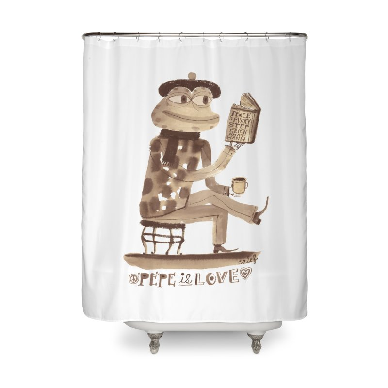 Calef Brown  Home Shower Curtain by savepepe's Artist Shop