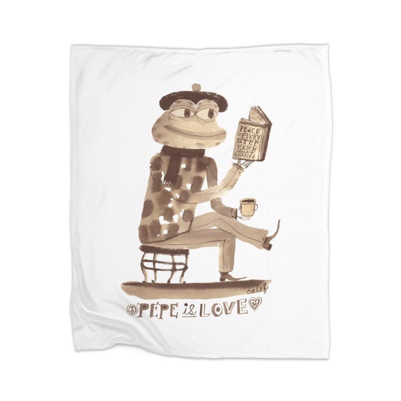 Calef Brown  Home Blanket by Save Pepe