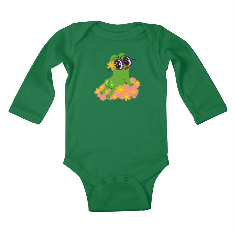 Aiden Jimeno  Kids Baby Longsleeve Bodysuit by Save Pepe
