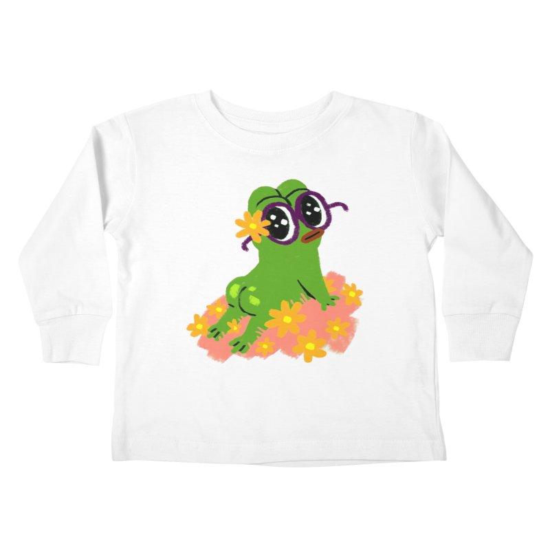 Aiden Jimeno  Kids Toddler Longsleeve T-Shirt by Save Pepe