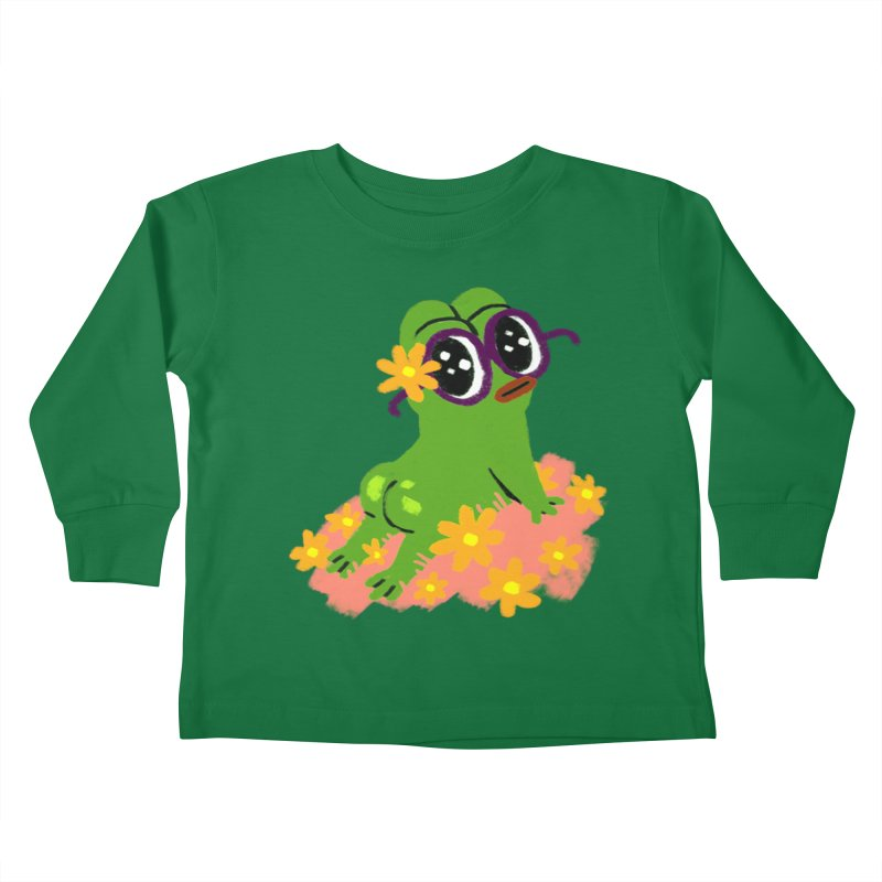 Aiden Jimeno  Kids Toddler Longsleeve T-Shirt by Save Pepe