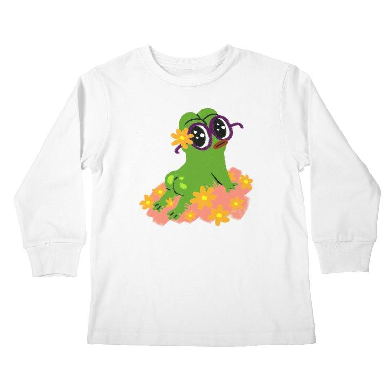 Aiden Jimeno  Kids Longsleeve T-Shirt by Save Pepe