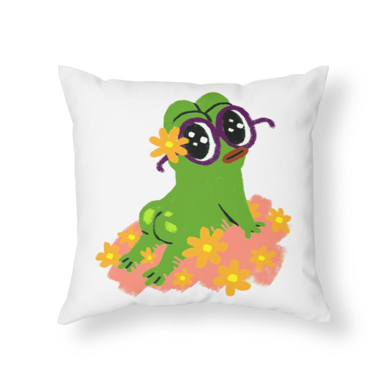 Aiden Jimeno  Home Throw Pillow by Save Pepe