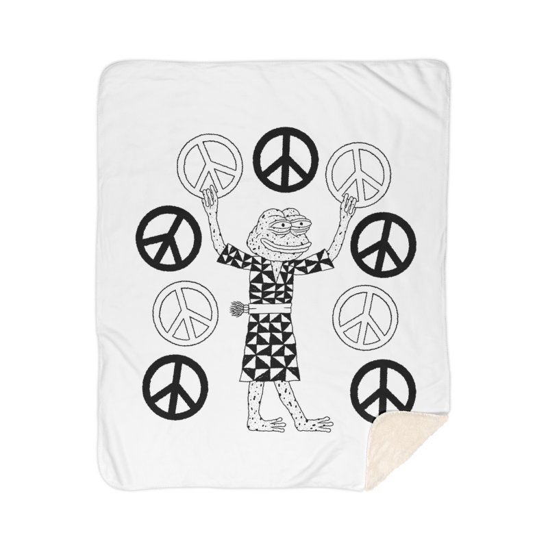 Matt Leines Home Sherpa Blanket Blanket by Save Pepe