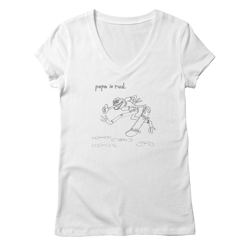 Devin Flynn Women's V-Neck by Save Pepe
