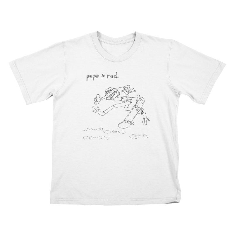 Devin Flynn Kids T-Shirt by Save Pepe