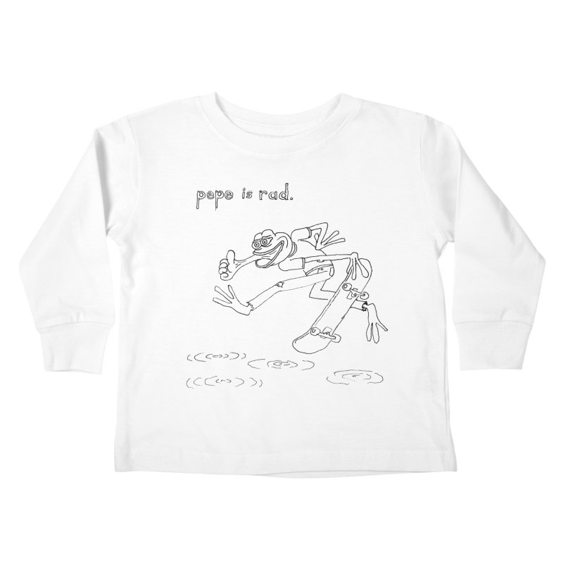 Devin Flynn Kids Toddler Longsleeve T-Shirt by Save Pepe