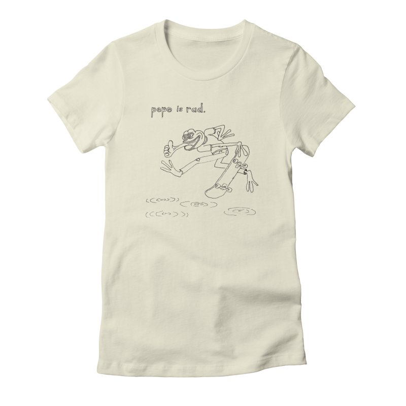 Devin Flynn Women's Fitted T-Shirt by Save Pepe