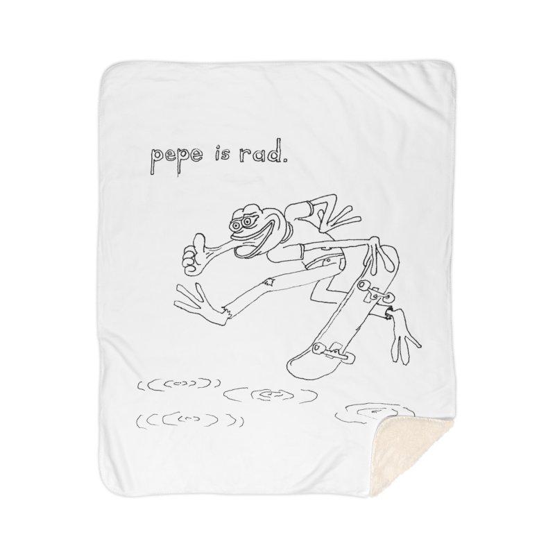 Devin Flynn Home Sherpa Blanket Blanket by Save Pepe