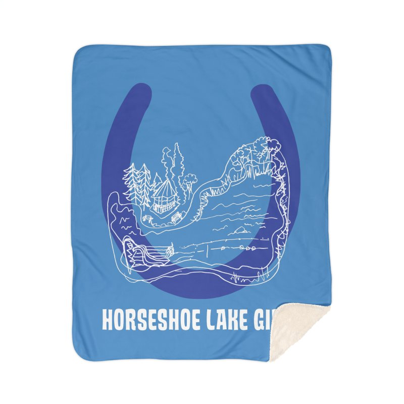 Horseshoe Lake Girls Home Sherpa Blanket Blanket by