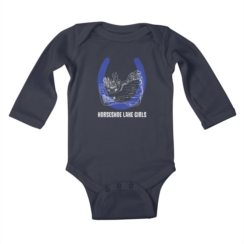 Horseshoe Lake Girls Kids Baby Longsleeve Bodysuit by