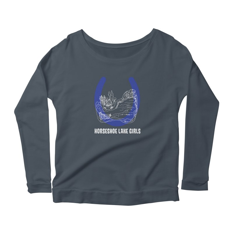 Horseshoe Lake Girls Women's Scoop Neck Longsleeve T-Shirt by