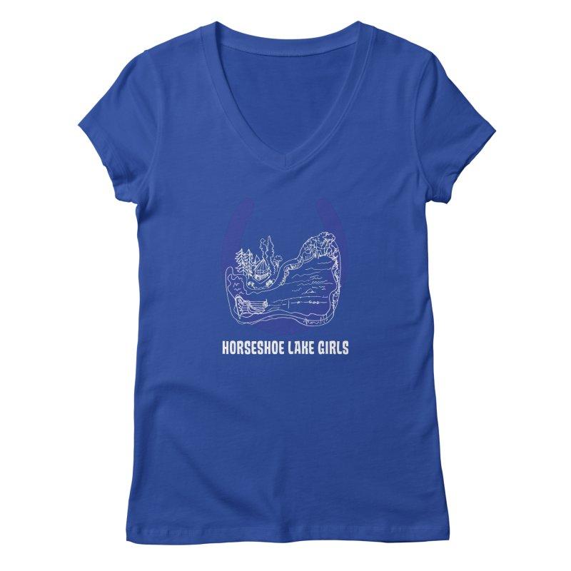 Horseshoe Lake Girls Women's Regular V-Neck by