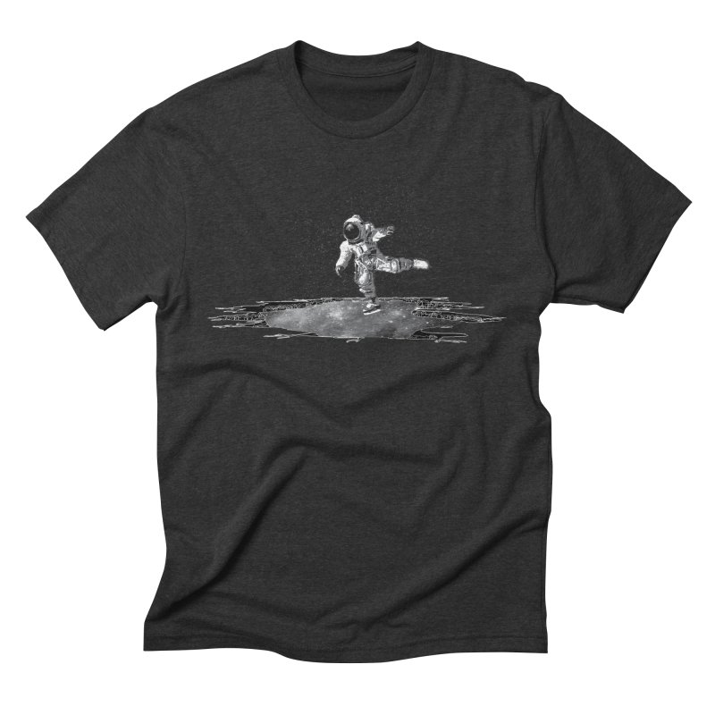 Astronaut Ice Skating Men's Triblend T-Shirt by