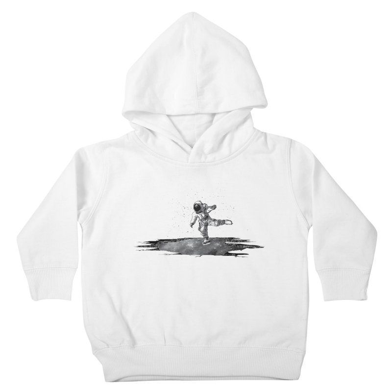 Astronaut Ice Skating Kids Toddler Pullover Hoody by