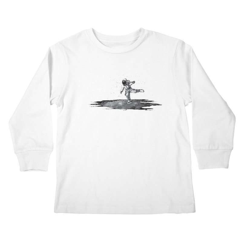 Astronaut Ice Skating Kids Longsleeve T-Shirt by