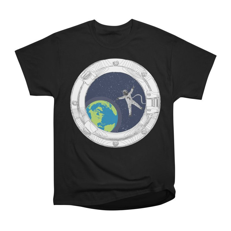 Spaceship Portal Men's Heavyweight T-Shirt by