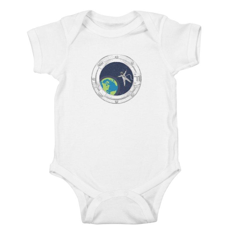 Spaceship Portal Kids Baby Bodysuit by