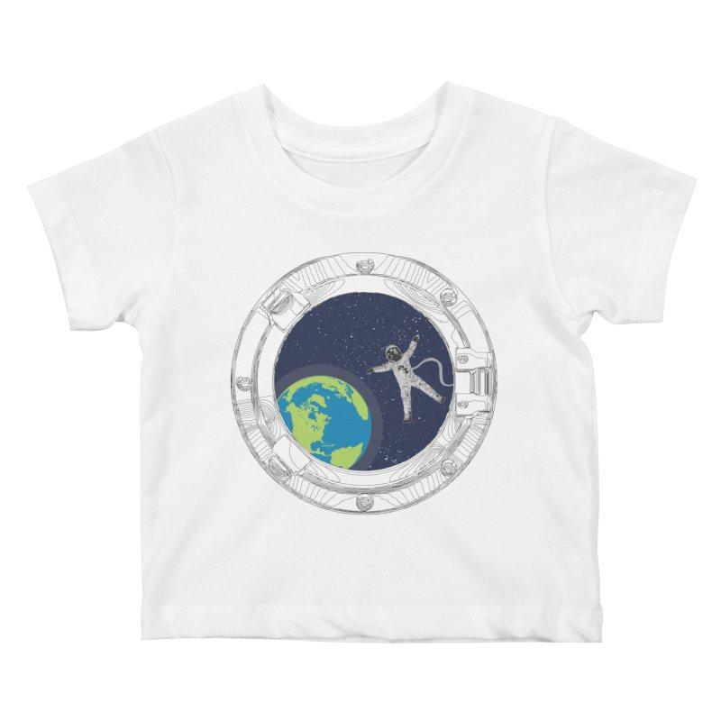 Spaceship Portal Kids Baby T-Shirt by
