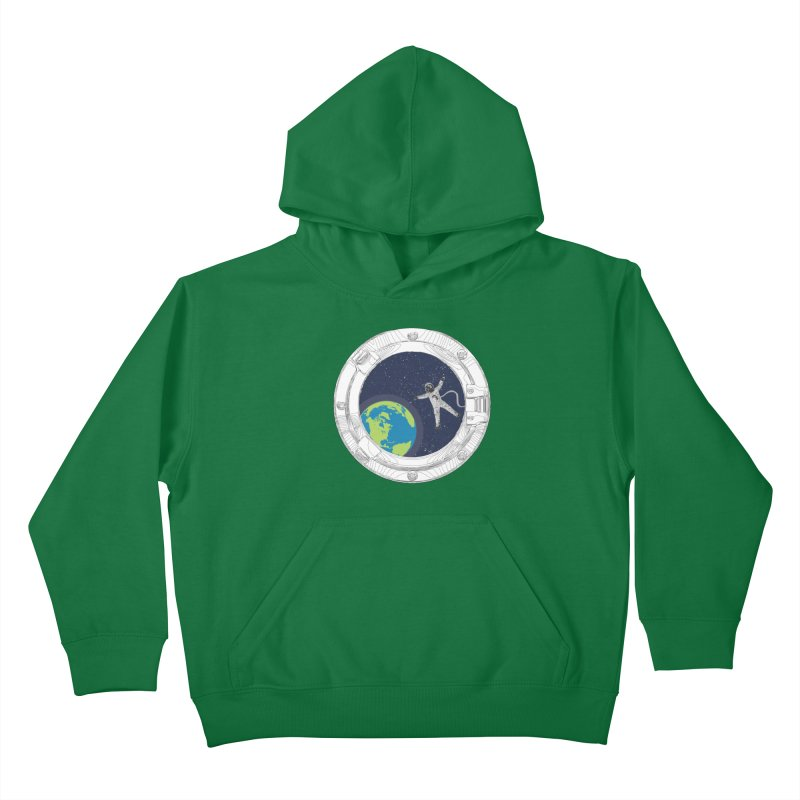 Spaceship Portal Kids Pullover Hoody by
