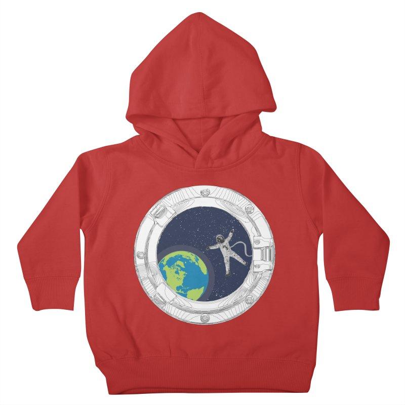 Spaceship Portal Kids Toddler Pullover Hoody by