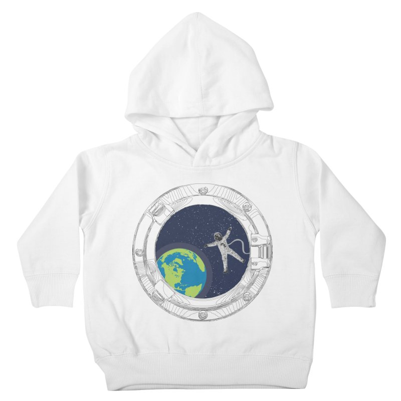 Spaceship Portal Kids Toddler Pullover Hoody by