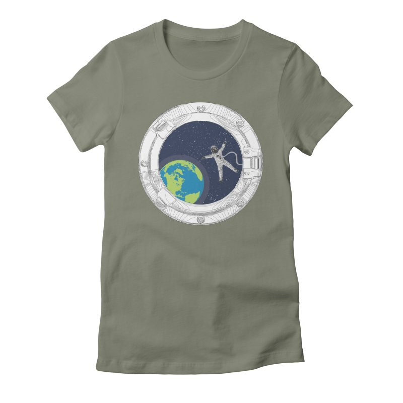 Spaceship Portal Women's Fitted T-Shirt by