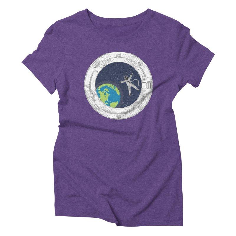 Spaceship Portal Women's Triblend T-Shirt by