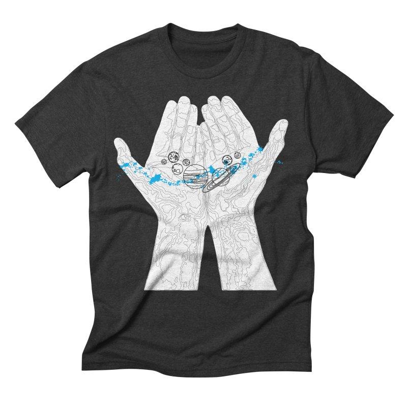 Universe Hands Men's Triblend T-Shirt by