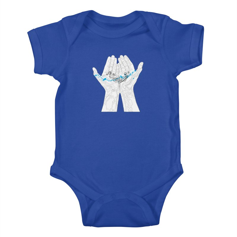 Universe Hands Kids Baby Bodysuit by