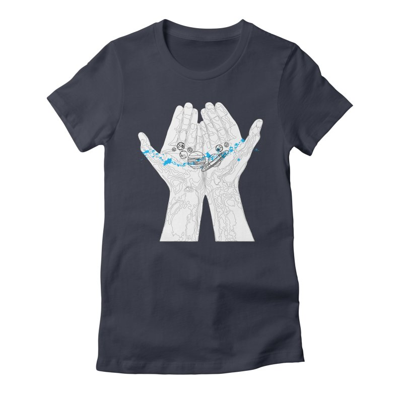 Universe Hands Women's Fitted T-Shirt by