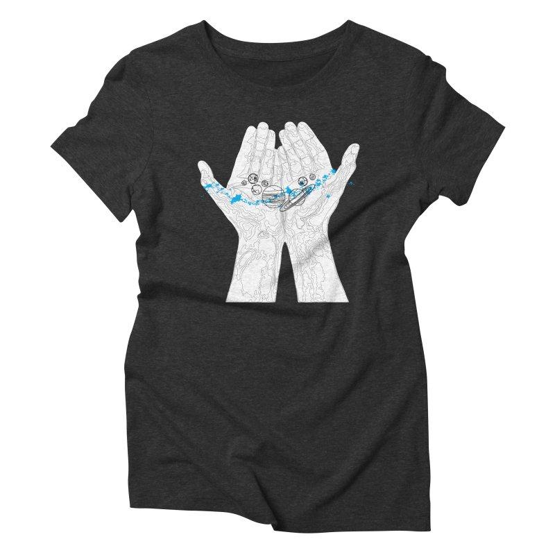 Universe Hands Women's Triblend T-Shirt by