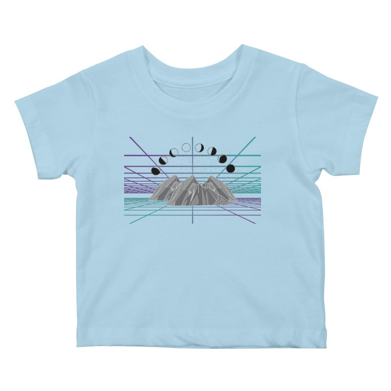 Wireframe World Kids Baby T-Shirt by