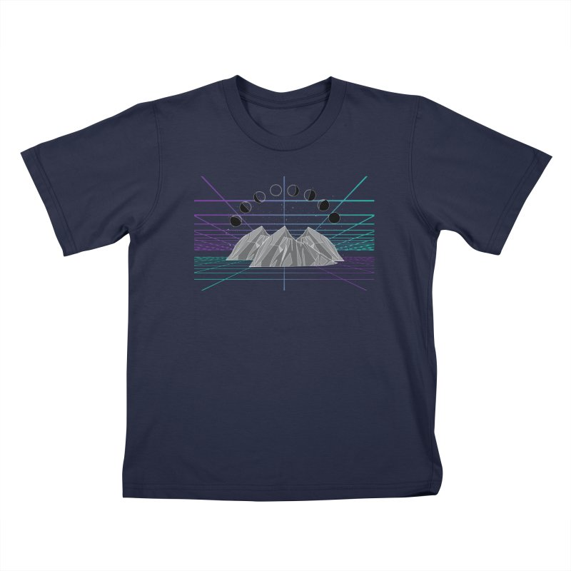 Wireframe World Kids T-Shirt by