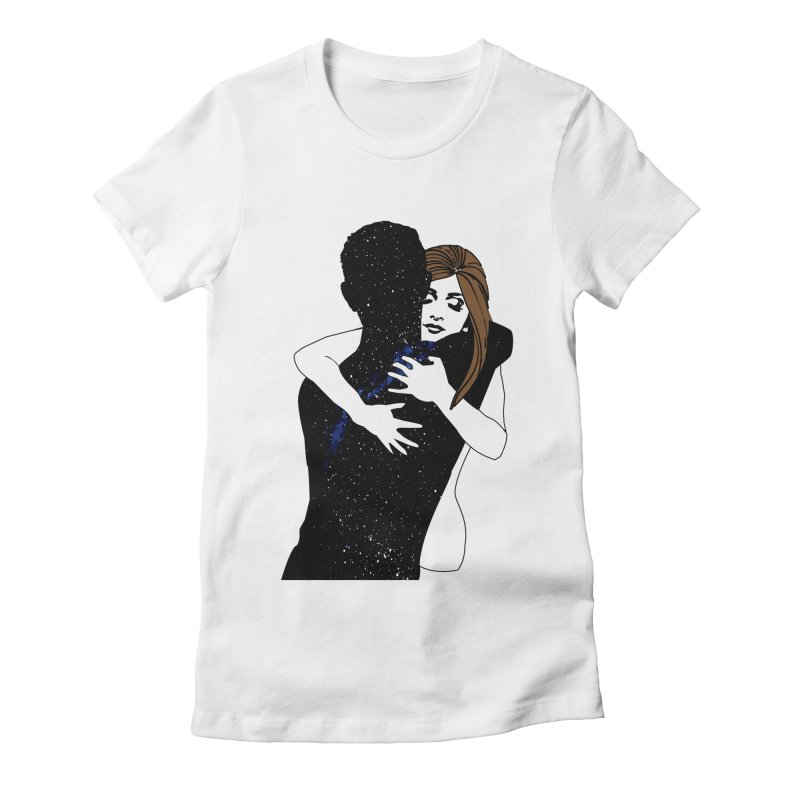 Galaxy Hug Women's Fitted T-Shirt by