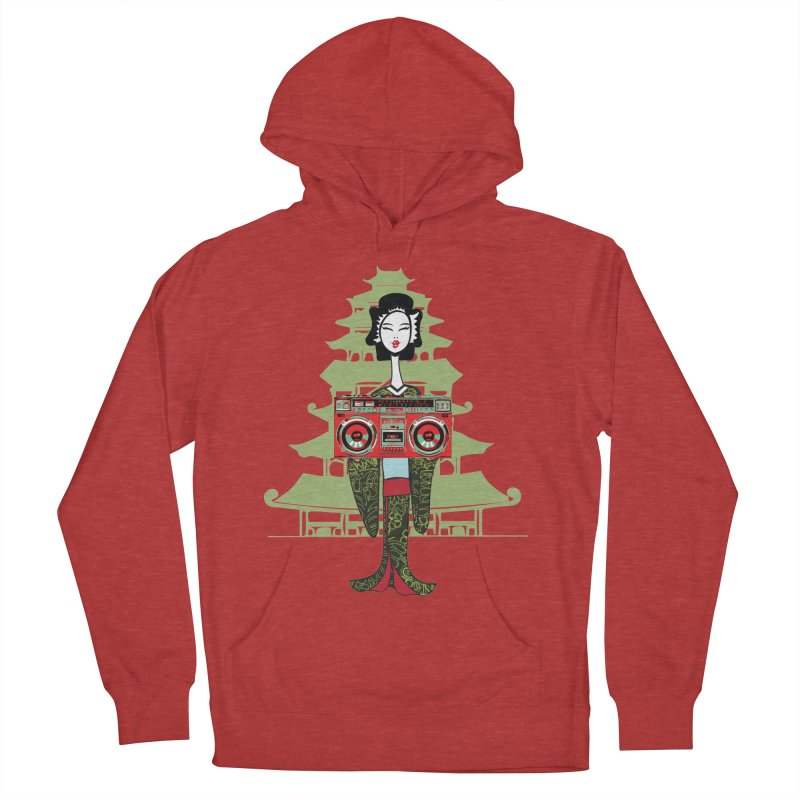 Boombox Geisha Men's French Terry Pullover Hoody by