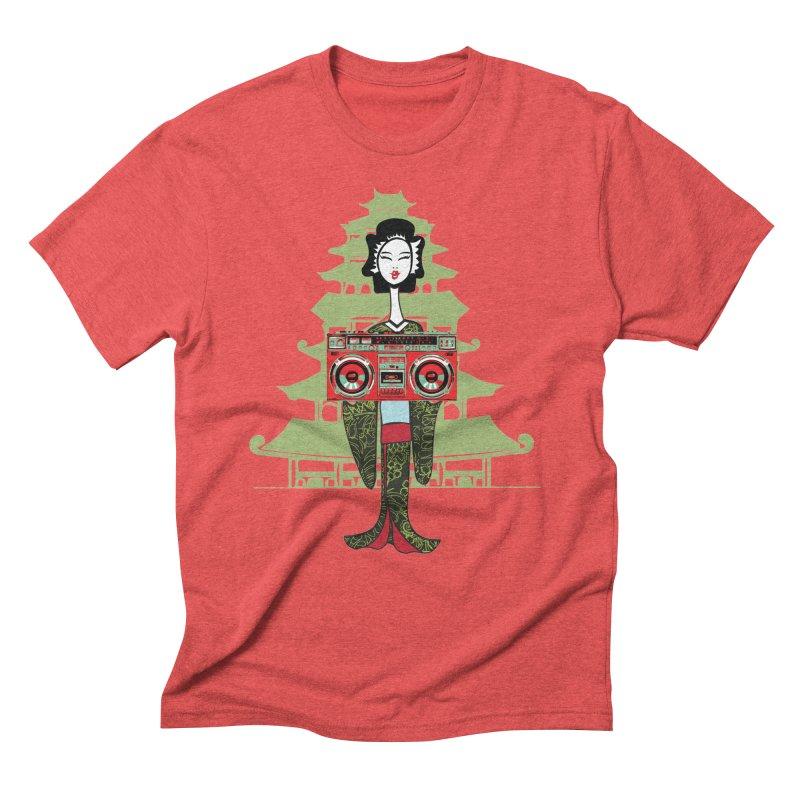 Boombox Geisha Men's Triblend T-Shirt by