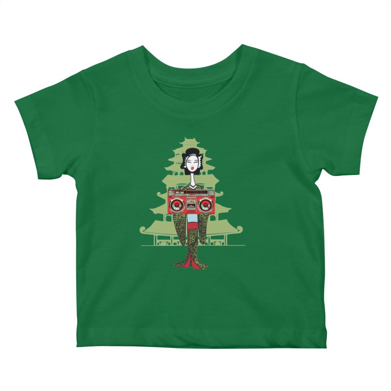 Boombox Geisha Kids Baby T-Shirt by