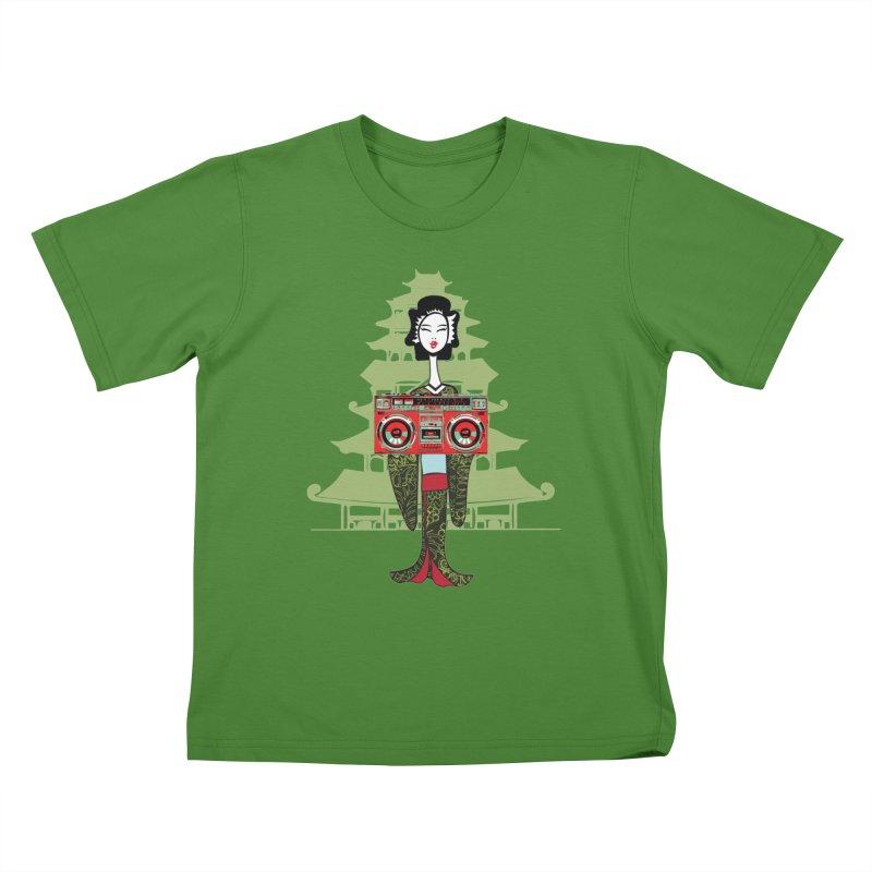 Boombox Geisha Kids T-Shirt by