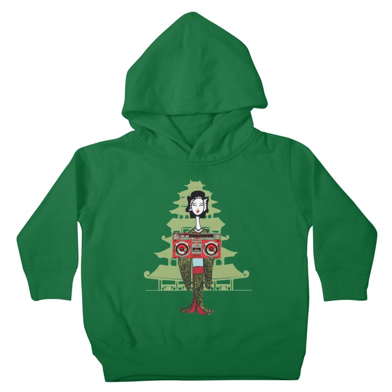 Boombox Geisha Kids Toddler Pullover Hoody by
