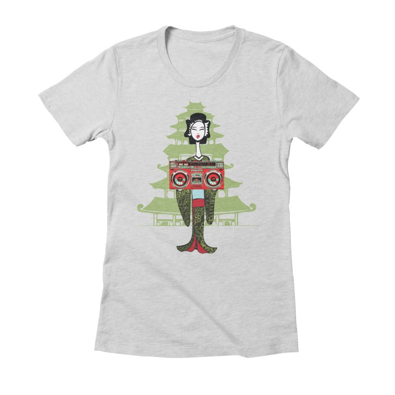 Boombox Geisha Women's Fitted T-Shirt by