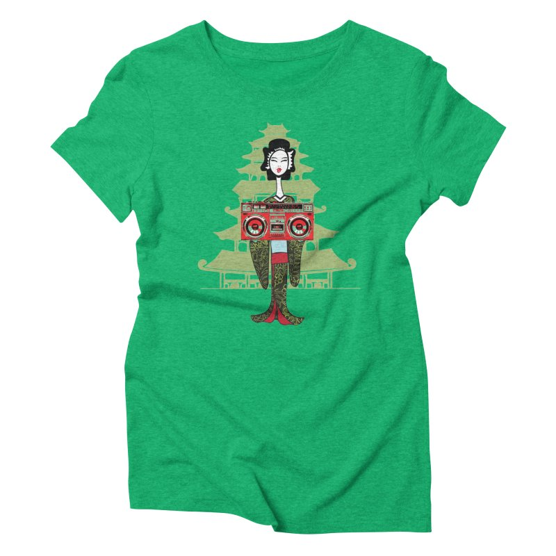Boombox Geisha Women's Triblend T-Shirt by