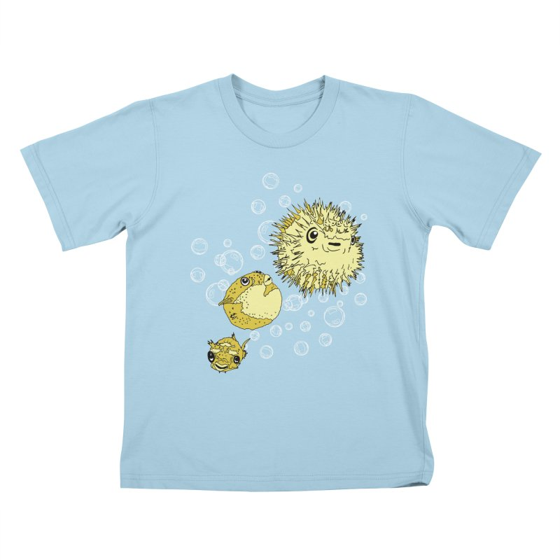 Puffer Attack Kids T-Shirt by